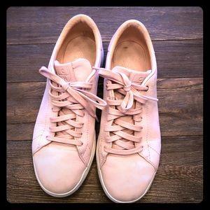 Cole Haan Grand Pro Tennis Sneakers in Pink Suede